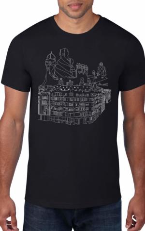 Gaudi-Casa-Mila-Black-Crew-Neck