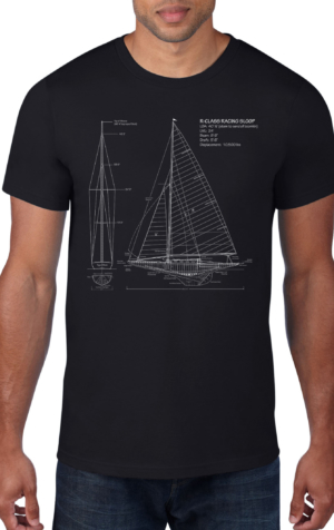 Sailboat-Black-Crew-Neck
