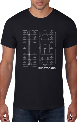 ShortBoard-Surf-Board-Black-Crew-Neck